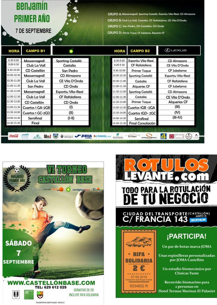 Equipos participantes en el VI Torneo Castellón Base Benjamín primer año (7 de septiembre)